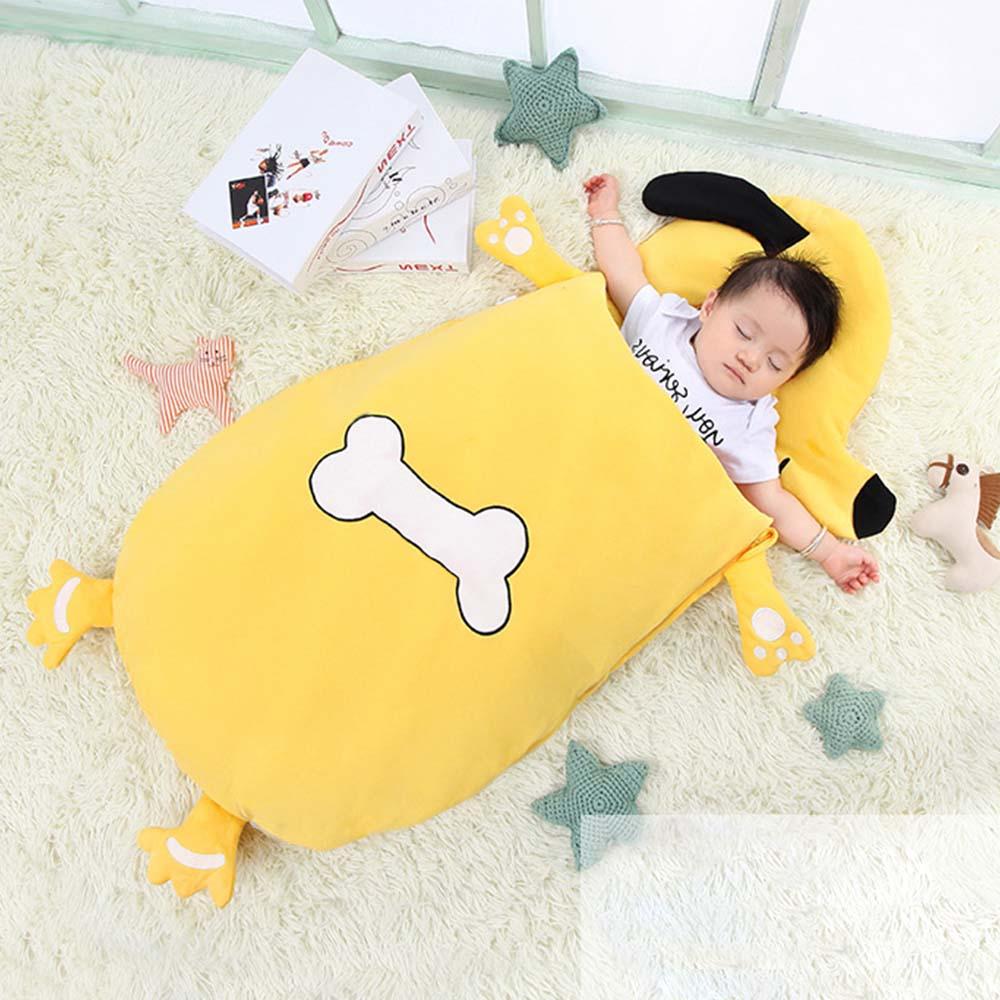 Baby Cute Bedding Sleeping Bags Kids Sleeping Sack Cartoon Animals Baby Sleeping Bag Cotton Infant Anti-roll Sleepsacks