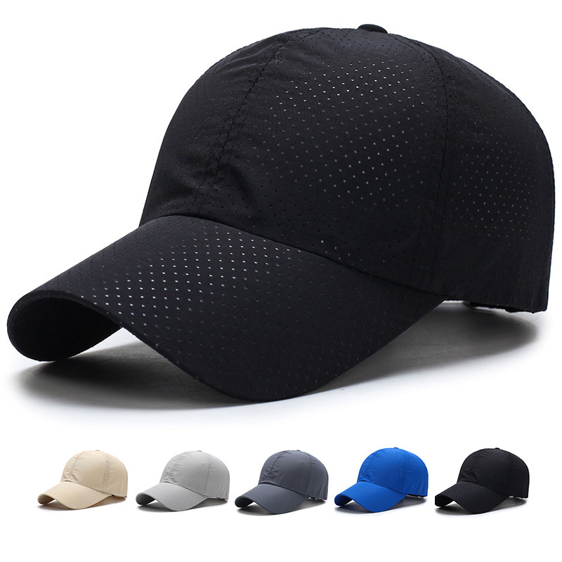 1pcs   Baseball     Cap   Unisex Summer Solid Thin Mesh Portable Quick Dry Breathable Sun Hat Golf Tennis Running Hiking Camping