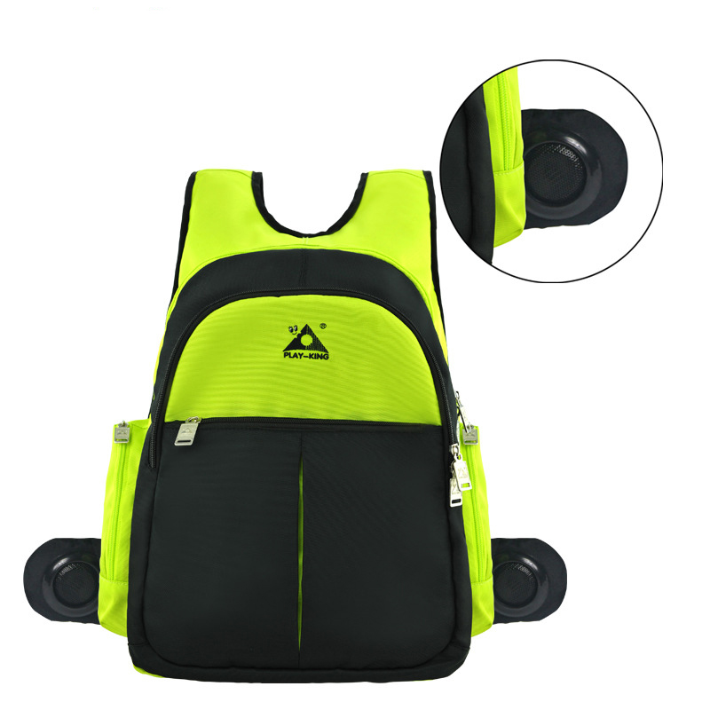 Men Functional Travel Music Backpack Sport Bag Rainproof Outdoor Camping Hiking Backpack with Sound Speaker Bags for School