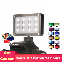 ULANZI Mini LED Video Light on Camera Pocket Photo Light with Filters Color Gels for DSLR Camera 3 Axis Gimbals