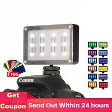 ULANZI Mini LED lumière vidéo sur caméra poche Photo lumière avec filtres Gels de couleur pour appareil Photo reflex numérique cardans 3 axes