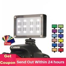 ULANZI Mini luz LED para vídeo en cámara, luz de Fotos de bolsillo con filtros, geles de Color para cámara DSLR, 3 ejes Gimbals