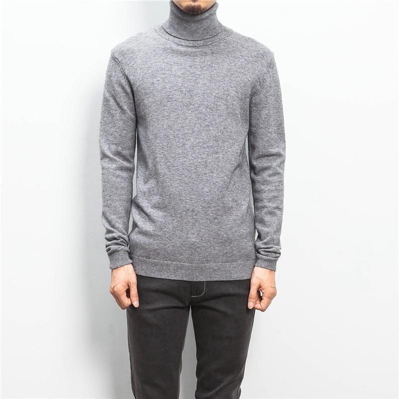 ZhenZhou Solide Slim Fit Pullover Männer Strickwaren Herren Pullover - Herrenbekleidung - Foto 3