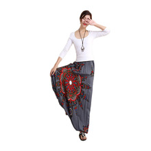 Hisenky мешковатые штаны-шаровары в стиле бохо, широкие шаровары, повседневные штаны с оборками, одежда для отдыха, штаны с эластичным поясом, женские брюки