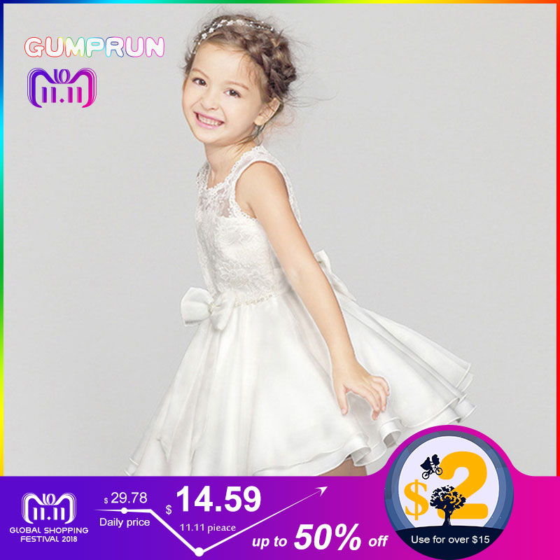 GUMPRUN Baby Girl Floral Lace Princess Tutu Dress Butterfly Birthday Party Dresses For Kids Wedding Ball Gown Girls Clothes [bosudhsou] als 5 kids girls floral dress baby girl butterfly party dresses children fancy princess a line dress wedding clothes