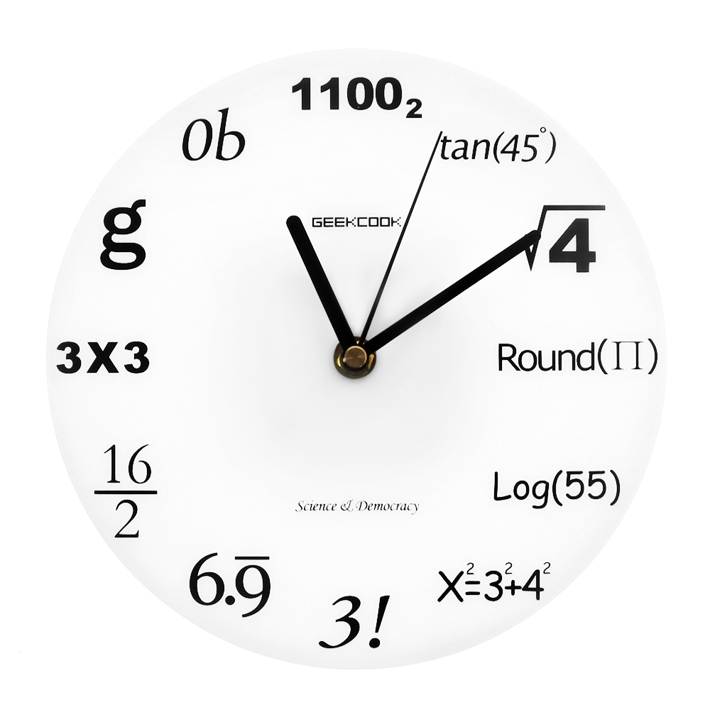 Mathematics Vinyl Wall Clock Unique Gifts Living Room Home Decor