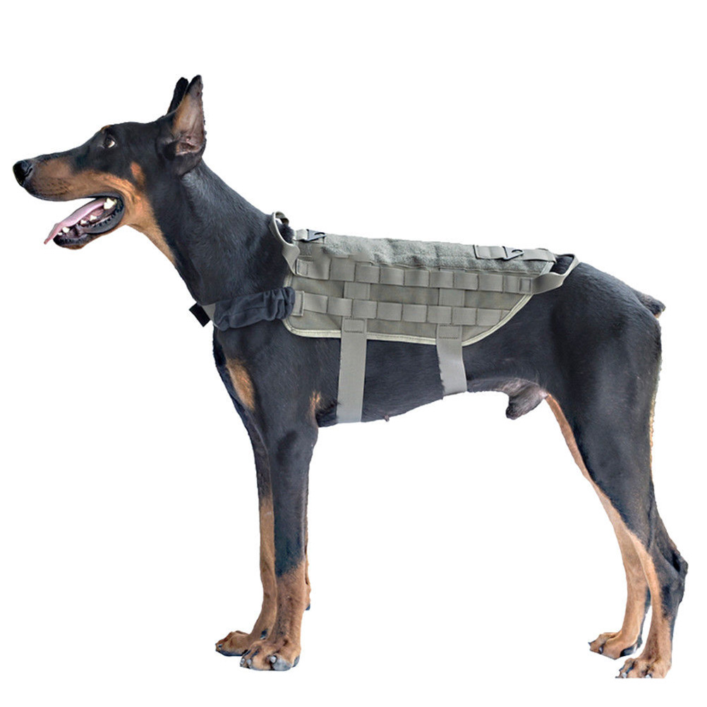 Tactical Service Dog Vest Training Hunting Molle Nylon Water-Resistan Military Patrol Adjustable Dog Harness With Handle HuntingTactical Service Dog Vest Training Hunting Molle Nylon Water-Resistan Military Patrol Adjustable Dog Harness With Handle Hunting