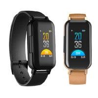 Bluetooth 5.0 Heart Rate Blood Pressure Wristband Sedentary Reminder Wristwatch Wireless In ear Earphone