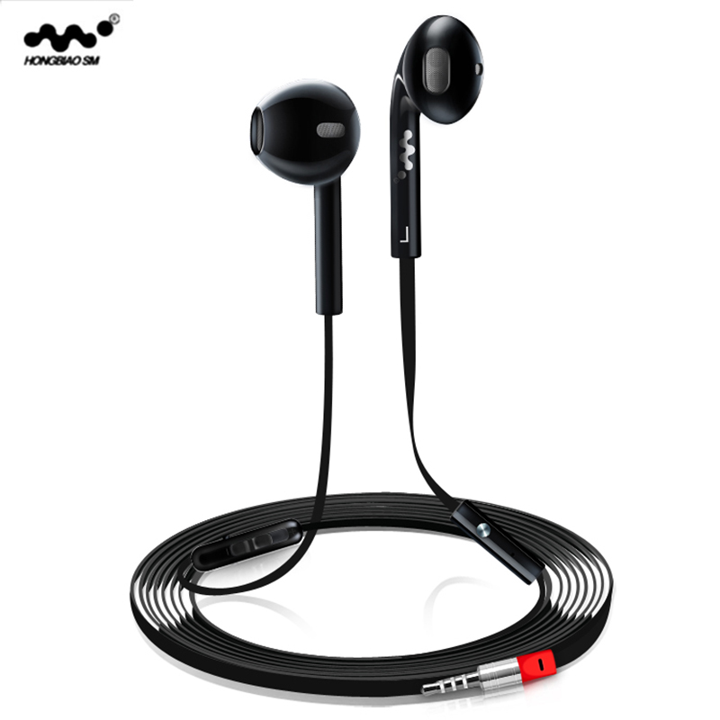 Original HONGBIAO SM Z600 brand headset portable earbud earphones with noise reduction headphones with mic bass stereo earphone