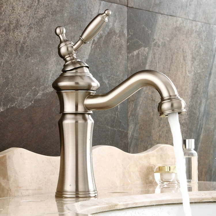 American style basin faucet, hot and cold single hole, under basin faucet, drawing head