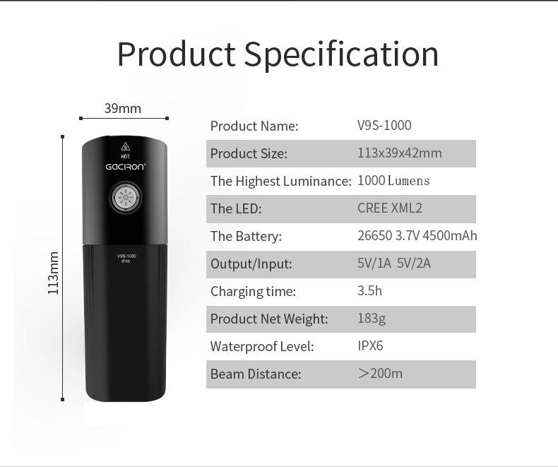 Велосипедный USB светильник L2, светильник для велосипеда, светодиодный портативный светильник для мобильного телефона с 26650 батареей, водонепроницаемый велосипедный светильник s - 4