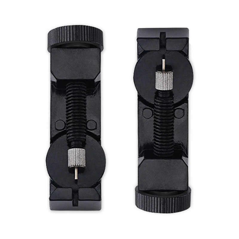 שחור מתכת שעון להקת קישור להתאים סדק רצועת צמיד שרשרת פין Remover שמאי תיקון כלי ערכת עם 3 סיכות נוספות