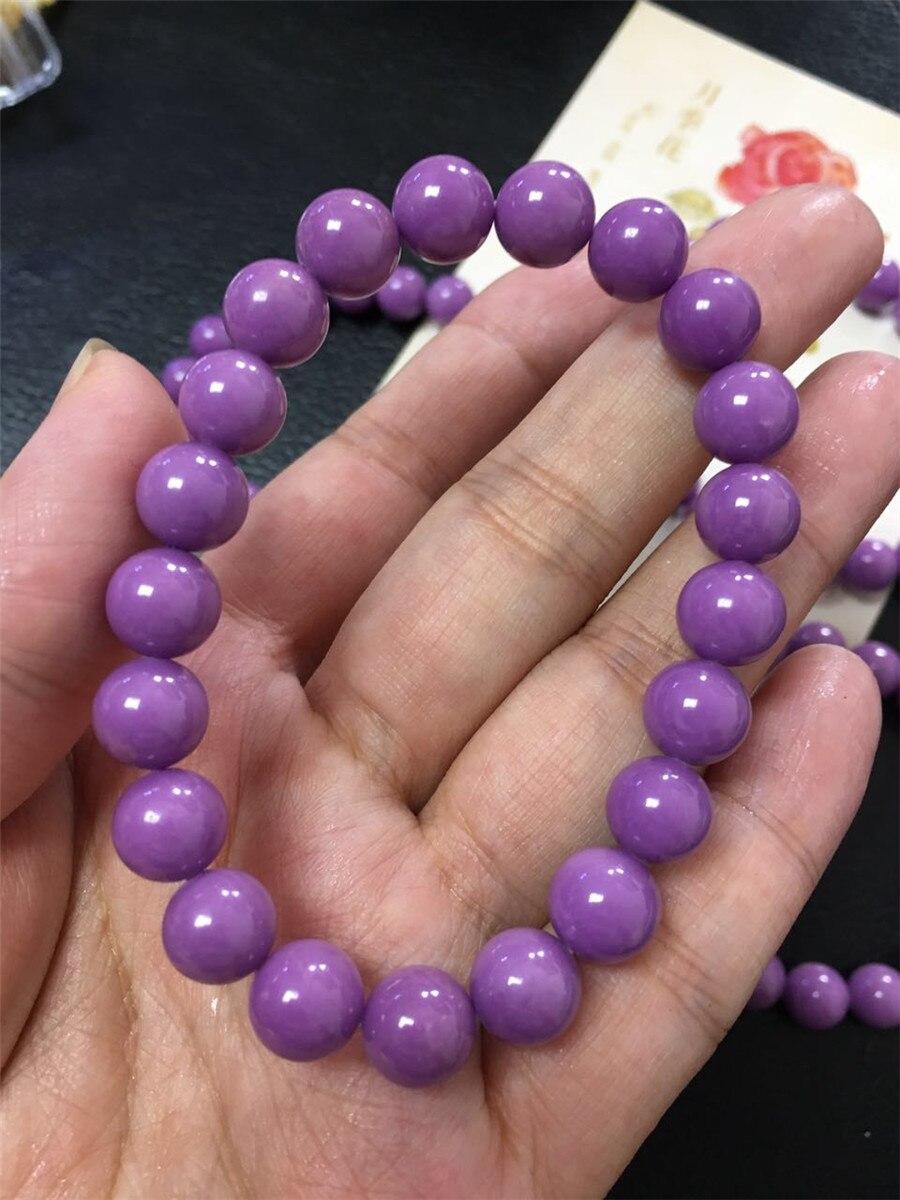 Новинка 2018, натуральный фосфосидерит, фиолетовый камень, круглые бусины, браслет aaa12 мм, модные женские и мужские хрустальные камни, Прямая п
