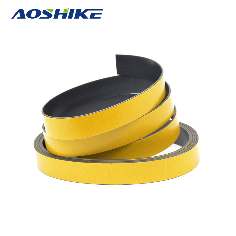 AOSHIKE 5M Magnetic Stripe 20*1.5MM Rubber Magnets Paste Sided Adhesive Can Cut All Kinds Of Shapes For School Home sfat can of 25l pro m