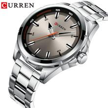 CURREN Fashion Watch Dial Quartz Business Watch Silver Waterpoof Wristwatch Stainless Steel Men Watch Clock Hombre