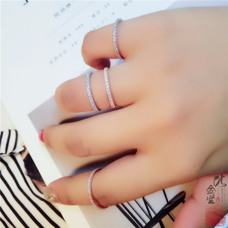 925 Silver Rings For Women Simple 2019 Classic Personalized  Wedding Ring Exquisite Cz Rhinestone Inlay Fashion Female Jewelry