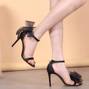 Image 5 - Women High Heels 2019 Summer Sexy Club Bow Fashion Sandals Wedding Party Korean Style Womens Shoes