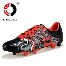 LEOCI New 2016 FG Football Boots Men Kids Soccer Shoes Cleats Outdoor Lawn Chuteira Futebol Zapatillas Deportivas Size 33-45