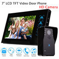 "Free shipping!7"" Doorbell Wired Intercom HD Camera Camera+ Monitor Door Phone Visual Security"
