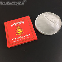 Not Hole 0 03mm 50pcs Red Pack Incomparable Special Al Fakher Shisha Hookah Aluminum Foil Chicha