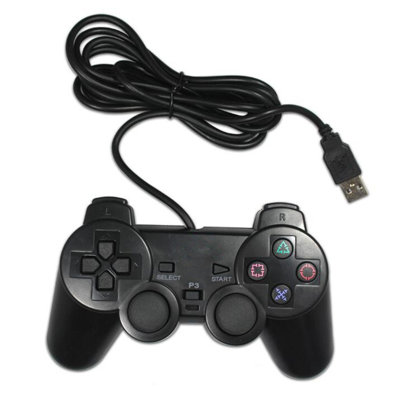 <font><b>USB</b></font> <font><b>Wired</b></font> <font><b>Gamepad</b></font> <font><b>For</b></font> PS3 controller Dualshock 3 Sony Playstation 3 <font><b>game</b></font> <font><b>console</b></font> <font><b>for</b></font> <font><b>PC</b></font>/Play station 3/PS 3 joystick