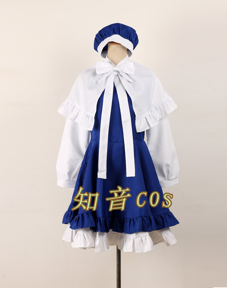 2016 Japan Anime Cardcaptor Sakura Tomoyo Daidouji Cosplay Costume Lolita Dress+Cape+Hat