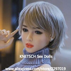 Image 3 - Knetschセックス人形ヘッド高さ140センチメートル〜170センチメートル本物のシリコーン愛人形ヘッドと新セックスのおもちゃ本物の人形ヘッド