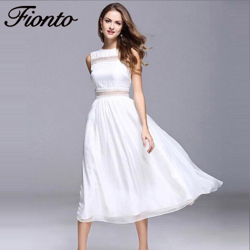 Белые женские длинные платья