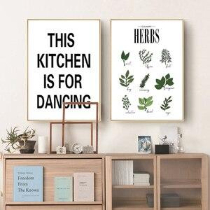 Image 4 - Cuadro sobre lienzo para pared con hierbas botánicas, cartel nórdico, letras blancas y negras, citas, decoraciones de pared, fotos sin marco