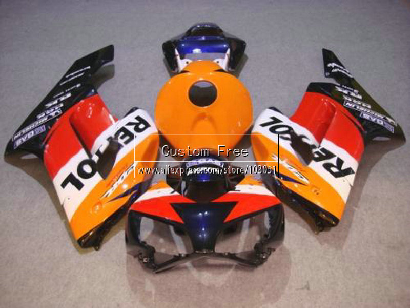 Injection verkleidung kits für Honda 2004 2005 CBR1000RR CBR 1000 RR 04 05 CBR 1000RR orange blau repsol verkleidungen teile - 3