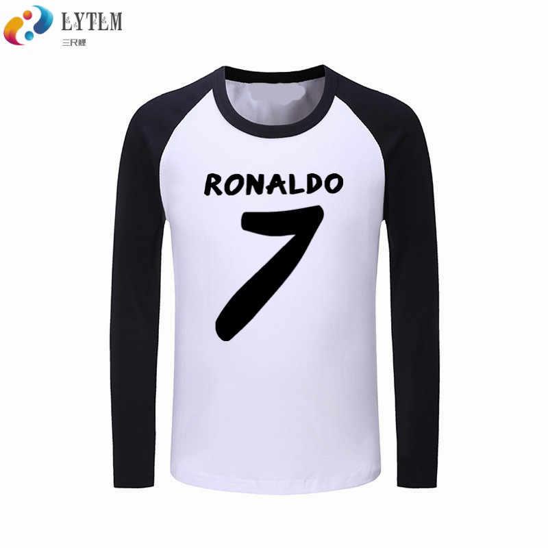 huge discount ace0e 7e13a LYTLM Ronaldo T Shirts for Boys Boys T Shirt Long Sleeve Cotton Clothes  Cristiano Ronaldo 7 Korean Kids Tops Tee Vetement Enfant