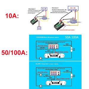 Image 5 - DC 100V 10A 50A 100A Mini 0.28inch LED Digital Voltmeter Ammeter Volt Ampere Meter Amperemeter Voltage Indicator Tester