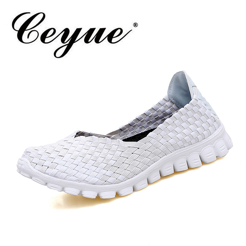 Ceyue Summer Fashion Women Shoes New Casual Breathable Mother Shoes Woman Flats Soft Comfortable Braid Loafers Sapato Feminino 2017 brand new women casual shoes summer breathable walking shoes low net surface flats fashion loafers 4 colors bc 03