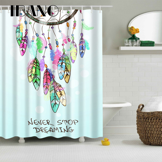 New Design Dreamcatcher Shower Curtain Waterproof Polyester Fabric For The Bathroom Decoration With 12pcs Hooks