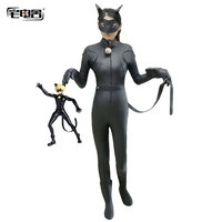 Anime Miraculous Ladybug Kids Suit Cosplay Halloween Boys Girls Cat Noir Costumes Adrien Children Spandex For