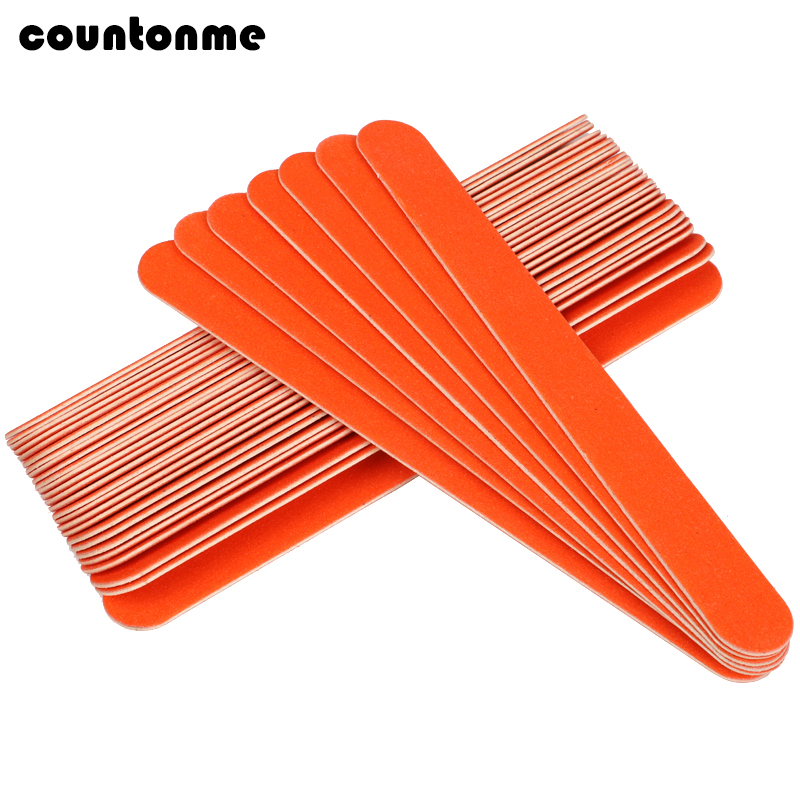 20pcs Professional Wood Nail Files Wooden Sandpaper Buffers Straight  File Orange Cuticle Remover Nail Polish Manicure Tools Set