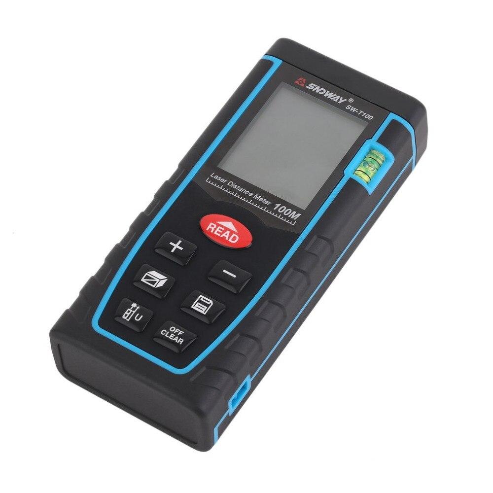 SNDWAY SW-T100 professionnel numérique Laser Distance mètre télémètre construire haute précision mesure dispositif règle outil de Test