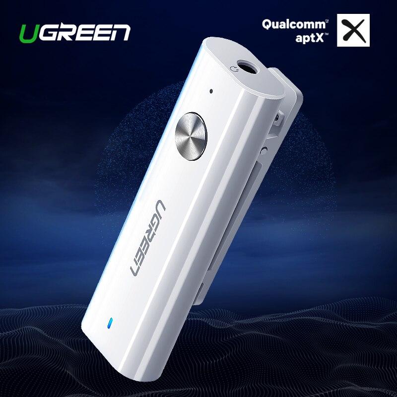 Ugreen Bluetooth 4,2 receptor Aux de 3,5mm receptor de Audio Bluetooth APTX bluetooth adaptador música auriculares Aux receptor Bluetooth