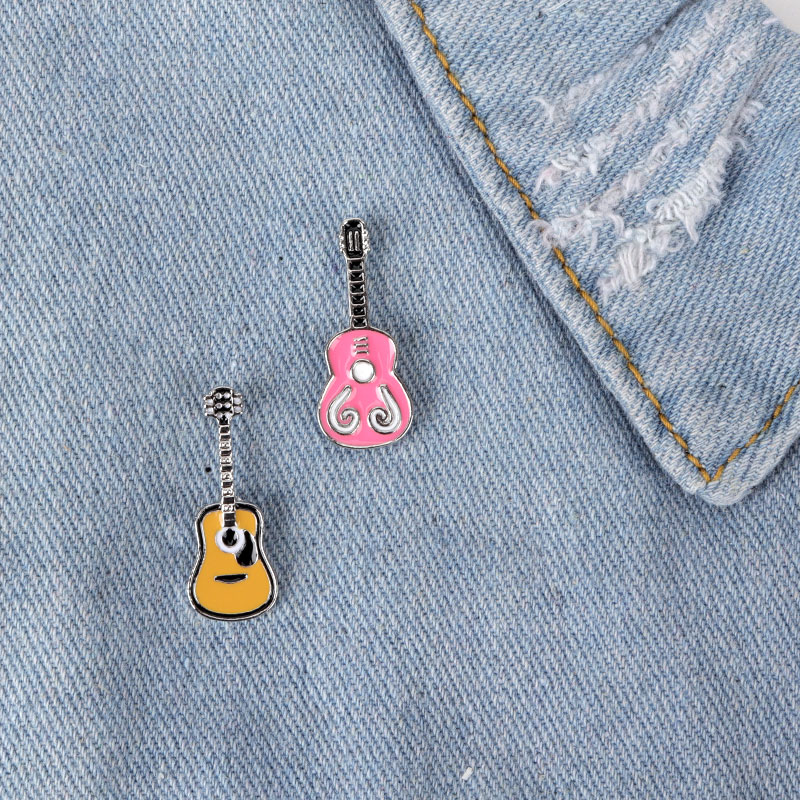 Trendy 2Pcs Musical Note Enamel Brooches Pins Badges Clothes Decoration Brooch