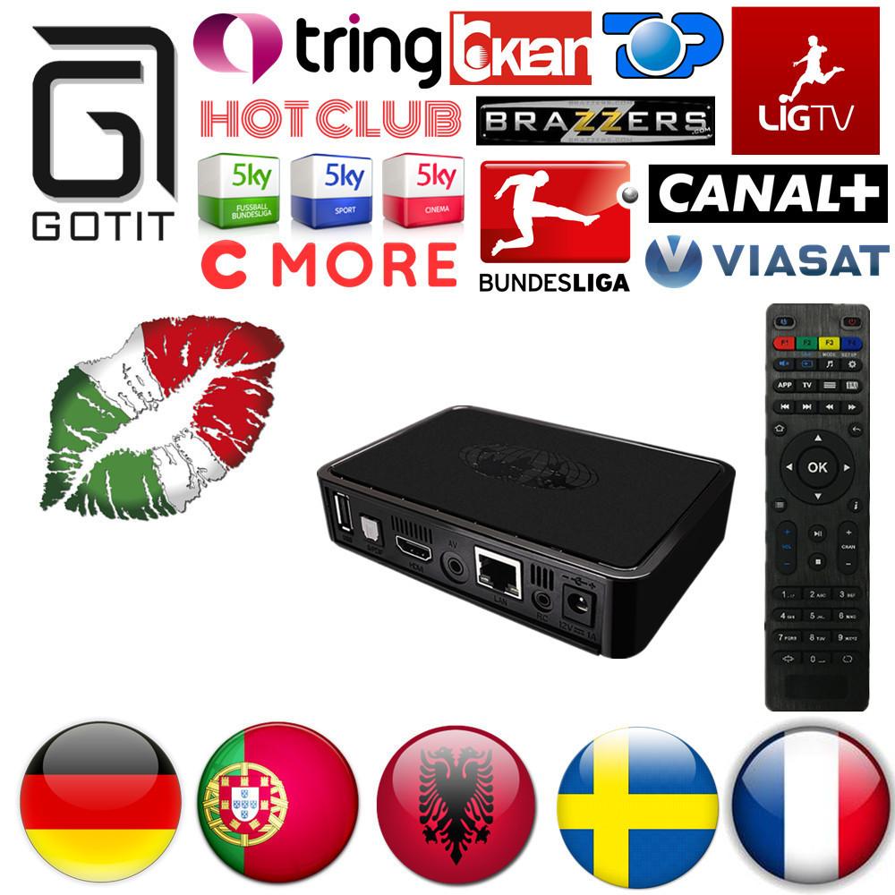 Prix pour MAG254 IPTV Boîte Européenne IPTV 4500 + Europe Canaux Suédois Albanais Allemand Turquie Portugal France Chaude Club Linux OS Ensemble Top Box