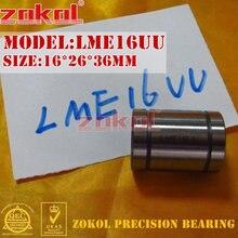 ZOKOL LME16 UU rodamiento LME16UU estándar europeo rodamiento de movimiento lineal 16*26*36mm