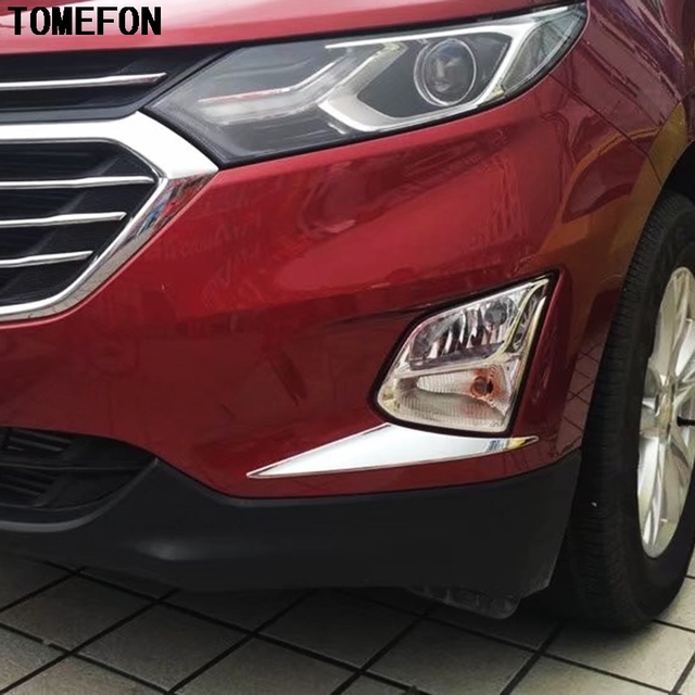 Us 15 28 16 Off Tomefon For Chevrolet Holden Equinox Third Ge 2018 2019 2020 Abs Chrome Front Fog Light Lamp Cover Head Foglamps Styling 2pcs In