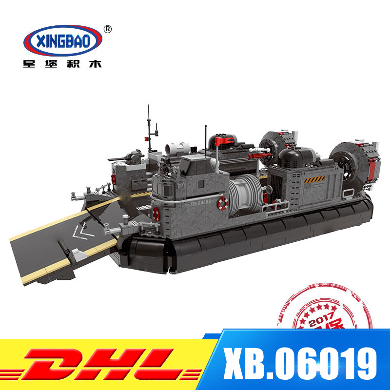XINGBAO 06019 Military Series Blocks 3006Pcs The Amphibious Transport Ship Set Building Bricks Kits Toys as Kids Christmas Gifts black pearl building blocks kaizi ky87010 pirates of the caribbean ship self locking bricks assembling toys 1184pcs set gift