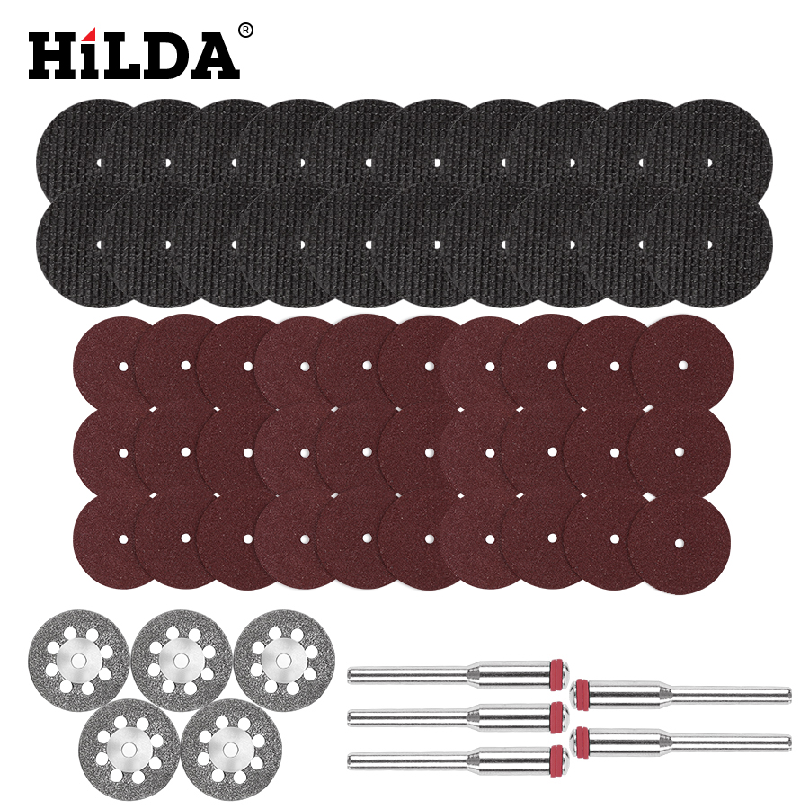 HILDA Diamond Cutting Disc Resin Cutting Sheet Circular Saw Blade Woodworking For Dremel Mini Drill Rotary Tool Accessories