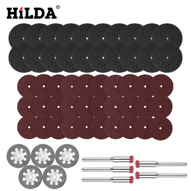 HILDA Diamond Cutting Disc Resin Cutting Sheet Circular Saw Blade Woodworking for Dremel Mini Drill Rotary Tool Accessories