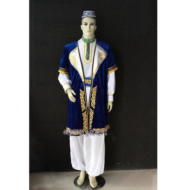 High Quality Custom Made Man Or Children Mongolian Suits,Folk Dancing Jacket And Trousers And Headwear For Men Mongolia Costumes