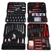 399PCS/Box Hand Tool Set Case Mechanics Kit Box Organize Castors Toolbox Trolley Accessory