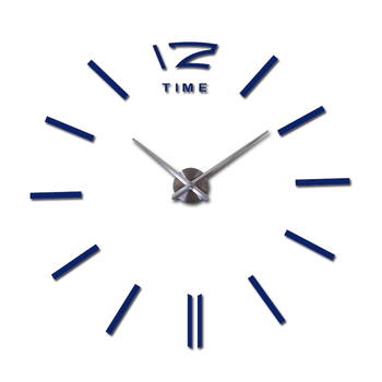 sale wall clock watch clocks 3d diy acrylic mirror stickers Living Room Quartz Needle Europe horloge free shipping 10