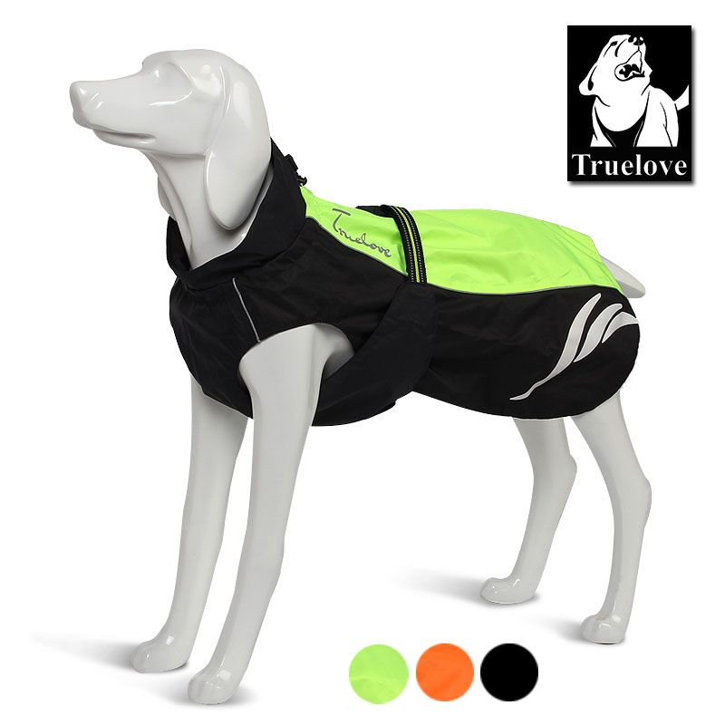 Truelove Reflective Dog Drabužiai Pet Dog Raincoat Yellow Waterproof Dog Jacket mažiems dideliems vidutiniams šunims All Seasons Dropship