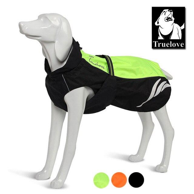Truelove светоотражающие одежда для собак плащ для собак желтый водонепроницаемая куртка для собак для маленький большой средний собаки все сезоны челнока